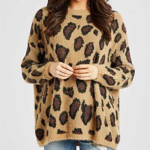 BNWT Altar'd State leopard pullover sweater